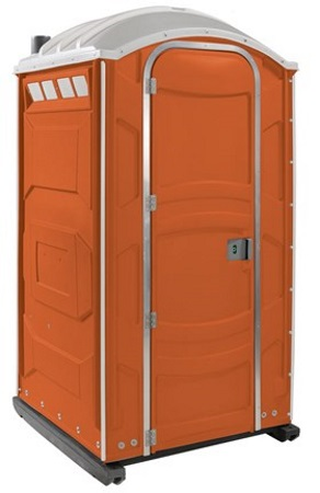Baustellen-Toilettenkabine-Orange